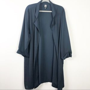 Bobeau Navy Open Front Kimono